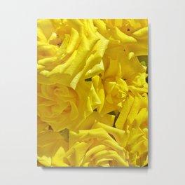 Roses Full Of Sunshine Metal Print