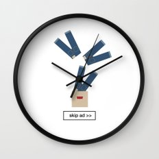 jeans ad Wall Clock