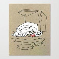 Sleeping Bears Canvas Print