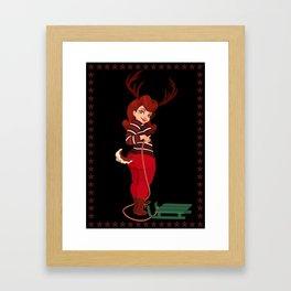 Christmas Cards - Reindeer Framed Art Print