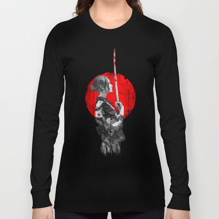 Samurai Girl Long Sleeve T-shirt