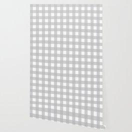 Buffalo Checks Plaid in Dove Gray and White Wallpaper