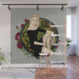 Stitched Up Pinup Wall Mural