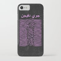 joy division iPhone & iPod Cases featuring Joy Division In Arabic & pink  by Sara Eshak