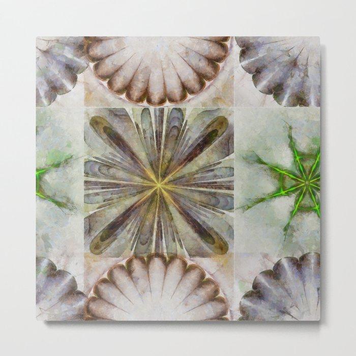 Dentalium Speculation Flower  ID:16165-144752-76360 Metal Print