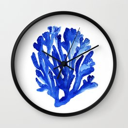 BLUE CORAL Wall Clock