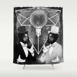 THE ILLUSIONISTS BW Shower Curtain