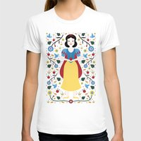 snow white T-shirts featuring Snow White  by Carly Watts