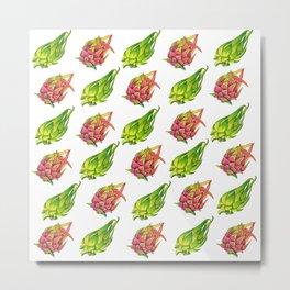 Dragonfruits Pattern Metal Print
