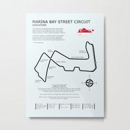 Marina Bay Street Circuit Metal Print