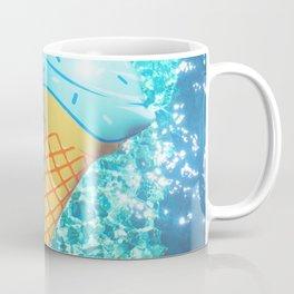 blue ice cream cone float all up in my pool yo Coffee Mug