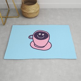funny coffee cup Rug