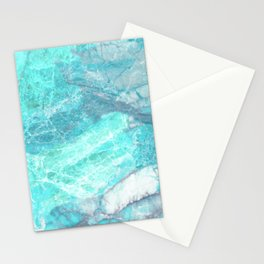 Marble Turquoise Blue Agate Stationery Cards