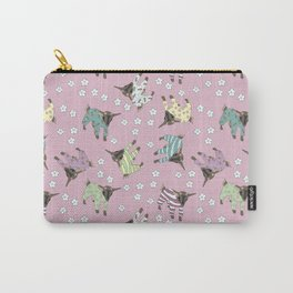 Pajama'd Baby Goats - Pink Carry-All Pouch