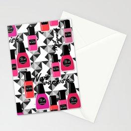 Seamless nail varnish nail polish pattern fashion cosmetic Stationery Cards