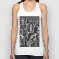 chicago Tank Tops featuring Chicago by Claude Gariepy