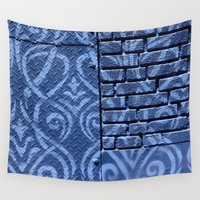 industrial Wall Tapestries featuring Industrial Damask by Jason Simms