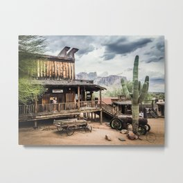 Goldfield Ghost Town, Superstition Mountains, AZ Metal Print