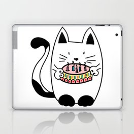 Happy Birthday - CAT WITH CAKE Laptop & iPad Skin