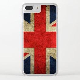 United Kingdom Flag Clear iPhone Case