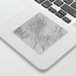 Marble Love Silver Metallic Sticker