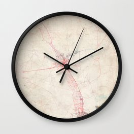 Las Cruces map New Mexico Wall Clock