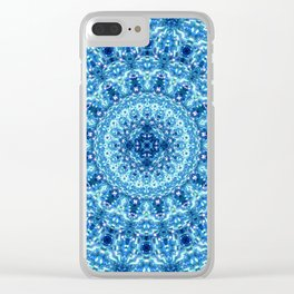 Crystal Radiance Mandala Clear iPhone Case