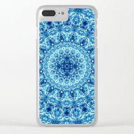 Crystal Radiance Mandala Clear iPhone Case