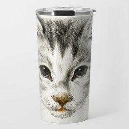 Sketch of a cat by Jean Bernard Travel Mug
