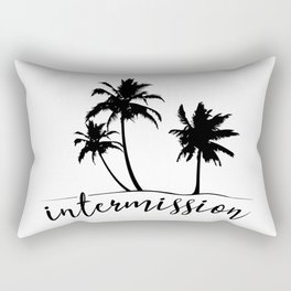 Intermission - On Holiday with Palm Trees Rectangular Pillow