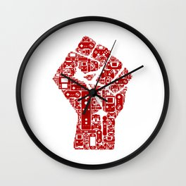 Gamer fist revolution Wall Clock