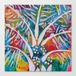 Leaves on the World Tree: Beti-Pahuin Dura Palm Canvas Print