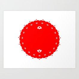 Domino for Japan Art Print