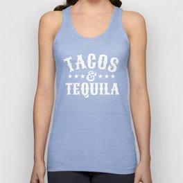 Tacos & Tequila (Orange) Unisex Tank Top