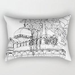 Conservatory of succulent - Black Rectangular Pillow