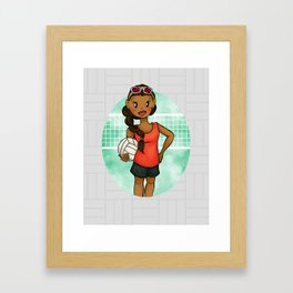 Volleyball Girl Framed Art Print