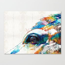 Colorful Horse Art - A Gentle Sol - Sharon Cummings Canvas Print