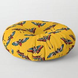 Butterfly - Death moth tattoo print  Floor Pillow