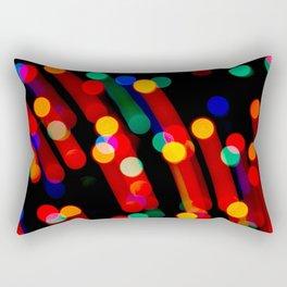 Bokeh Christmas Lights With Light Trails Rectangular Pillow