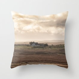 Scottish countryside landscape photography - The Highlands Throw Pillow
