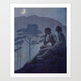 """Give me nights perfectly quiet... and I looking up at the stars"" (Margaret C Cook, Leaves of Grass) Art Print"