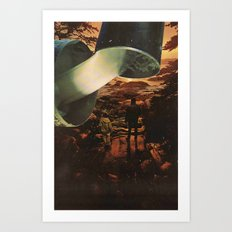 the flow Art Print