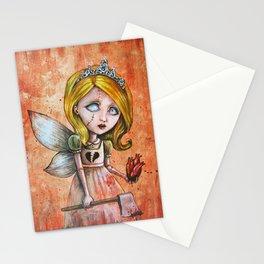 Love Hurts Dark Valentines Undead Fairy Princess Stationery Cards