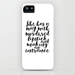 Makeup Quotes Makeup Decor Quotes Fashion Decor Gift For Her Women Gift Fashionista Boss Lady Office iPhone Case
