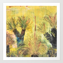 Rustic Grass Tree Art Print