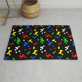 Retro 8 Bit Video Game Graphics Pattern Rug