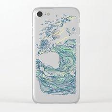 Ocean Breath Clear iPhone Case