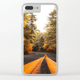 on the road in vermont Clear iPhone Case