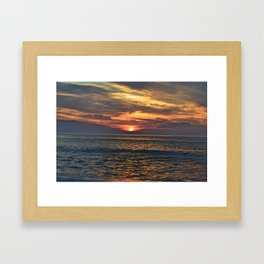 Rehoboth Beach sunrise Framed Art Print