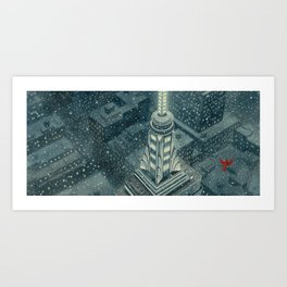 Red and the Empire State Building Art Print